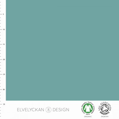 Elvelyckan  - Aqua blue solid €20 p/m jersey (GOTS)