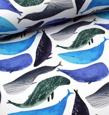 Tidoeblomma - Whales (GOTS summersweat) €21,90 p/m