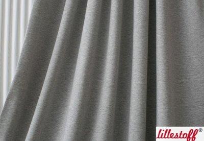 Lillestoff - solid grijs gemêleerd (jersey) €15,80 p/m GOTS