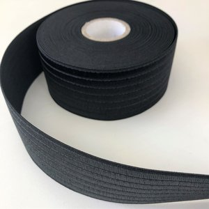 Zwart glans elastiek 60mm