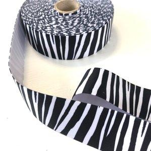 Zebra elastiek 40mm zwart/wit