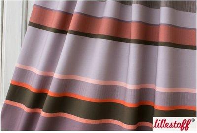 Lillestoff - Strepen Taupe/orange jersey €21,30 p/m GOTS