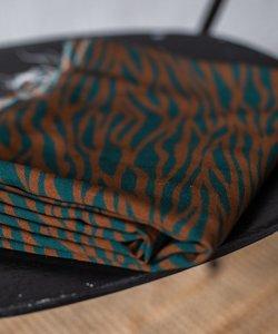 mindtheMAKER - Viscose Zebra Teal/rust €19,50 p/m