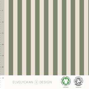 Elvelyckan  - Green stripes €24 p/m jersey (GOTS)