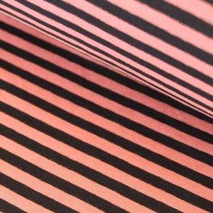 Black/coral stripes €19,80 p/m GOTS