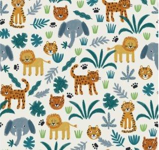 Lillestoff - Jungle Animals summersweat €21,80 p/m GOTS