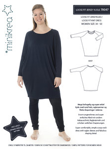 Minikrea Loose fit Jersey dress mt 34-50 70047