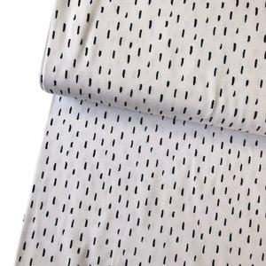 Verhees GOTS  - Dots/stripes white €11,90 p/m jersey (GOTS)