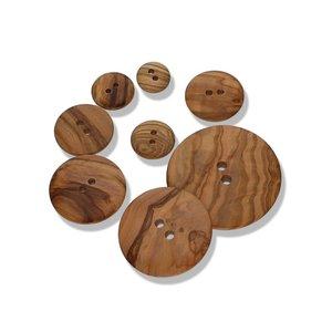 Olive Wood - Rond houten knoop vanaf €0,60 p/s