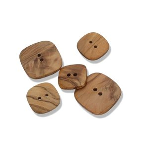 Olive Wood - 25mm vierkant houten knoop €0,85 p/s