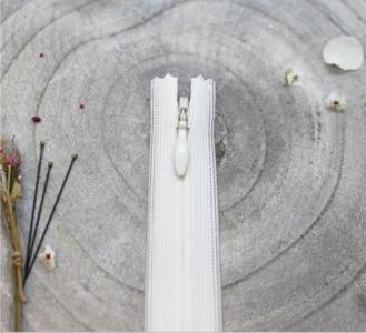 Blinde rits off white 20 cm - Atelier Brunette