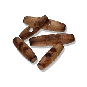 Olive Wood - 40mm toggle houten knoop €1,10 p/s