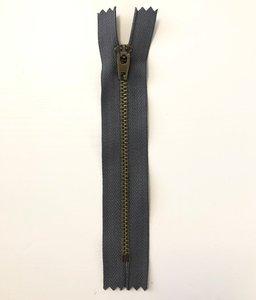 Jeans rits 14 cm grijs - Snaply