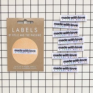 KYLIE & THE MACHINE - MADE WITH LOVE AND SWEAR WORDS 8 labels €6,50 per set