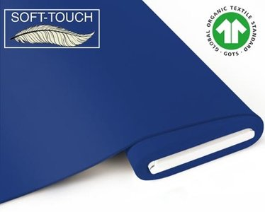 Fabrilogy - Koningsblauw soft touch €11,70 p/m GOTS