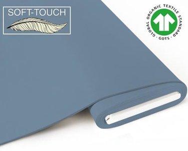 Fabrilogy - Denim blauw soft touch €11,70 p/m GOTS