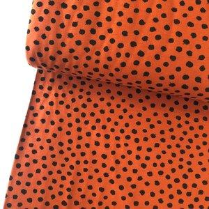 Verhees GOTS  - Dots cognac €11,90 p/m jersey (GOTS)
