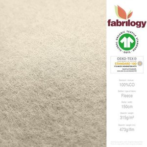 Fabrilogy - Creme Katoen Fleece  €20 p/m GOTS