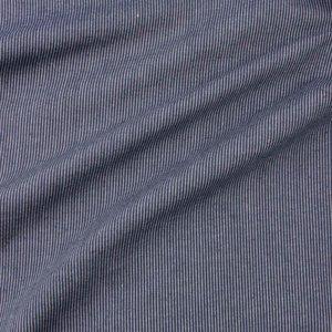 Ecological Textiles - Hemp/cotton dark blue striped poplin   €18,90