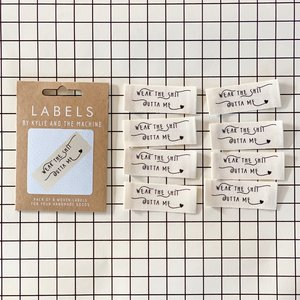 KYLIE & THE MACHINE - WEAR THE SHIT OUTTA ME 8 labels €6,50 per set