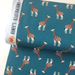 Ansje Handmade - Giraffe jersey - Reneesillustrations €23,50 p/m