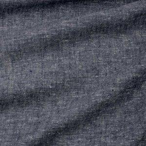 Ecological Textiles - Hemp/tencel dark blue melange poplin   €22,50