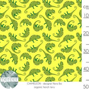 Mereen - Chameleon Lemon €26,50 p/m french terry (GOTS)