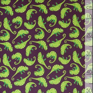 Mereen - Chameleon Plum €26,50 p/m french terry (GOTS)