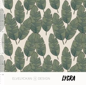 Elvelyckan  - LYCRA Banana leafs €23 p/m (oekotex)