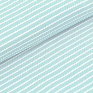 Stoffonkel - Stripes gletscher JERSEY €21,80 p/m GOTS