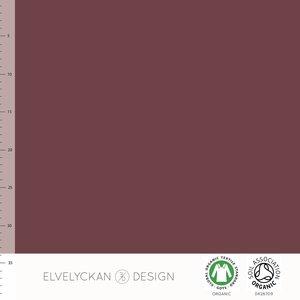 COUPON 90 CM Elvelyckan  - Wine COLLEGE €22 p/m (GOTS)