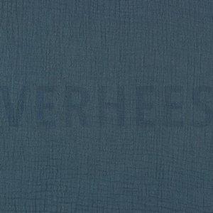 Verhees GOTS  - Indigo Double Gauze/hydrofiel €8,50 p/m katoen (GOTS)