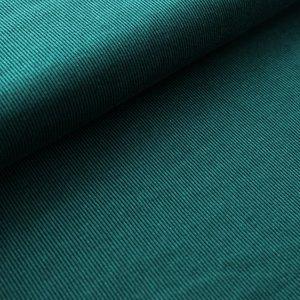 Stoffonkel - Organic JACQUARD stripe smaragd €23,80 p/m GOTS