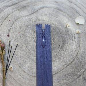 Blinde rits cobalt 40 cm - Atelier Brunette