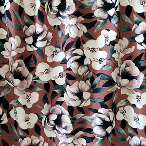 Mieli Design - Blush bloom rust JERSEY €25,50 p/m (organic)
