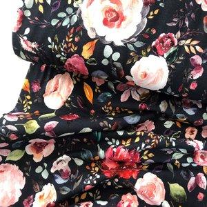 Verhees GOTS  - Flowers navy €12,90 p/m jersey (GOTS)
