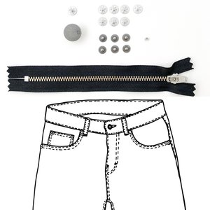KYLIE & THE MACHINE - REFILL JEANS KIT BLACK/PEWTER 19 €12,90