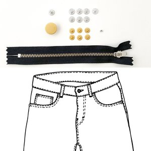 KYLIE & THE MACHINE - REFILL JEANS KIT BLACK/GOLD 19 €12,90