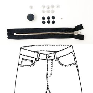 KYLIE & THE MACHINE - REFILL JEANS KIT BLACK 19 €12,90