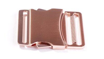 Ceintuur/tas en siergesp 40 mm koper/rose gold - €6,99 per stuk