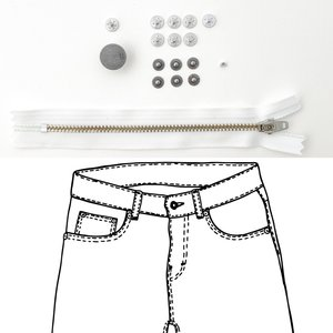 KYLIE & THE MACHINE - REFILL JEANS KIT WHITE/PEWTER 19 €12,90