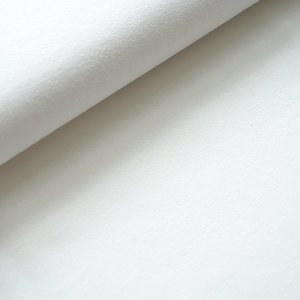 COUPON 80 CM Stoffonkel -  French terry OFF WHITE €19,90 p/m (GOTS)