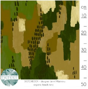Mereen - Camo Sketch €26,50 p/m french terry (organic)