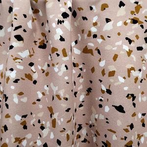 Mieli Design - TERRAZZO blush €25,50 p/m FRENCH TERRY (organic)