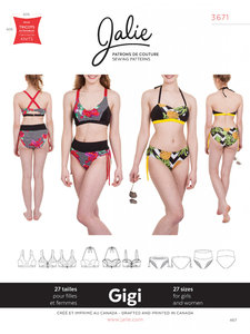 Jalie 3671 Gigi bikini GIRLS-WOMEN €15