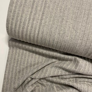 COUPON 115cm  Verhees - Recycled RIB cotton GREY €13,50 p/m