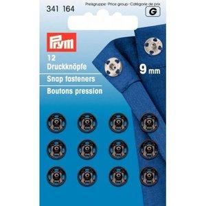 Prym aannaaidrukknoop 9mm zwart - €2,60 p/s