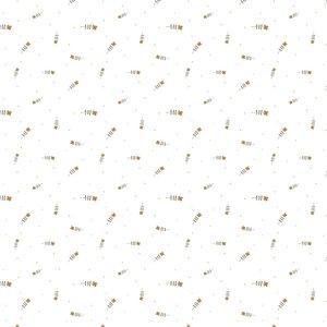 Verhees GOTS  - WHITE TINY FLOWER €12,90 p/m jersey (GOTS)