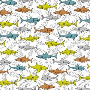 Verhees GOTS  - SHARKS WHITE €12,90 p/m jersey (GOTS)