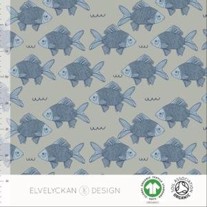 Elvelyckan  - Fish Pond Sage JERSEY €23 p/m (GOTS)